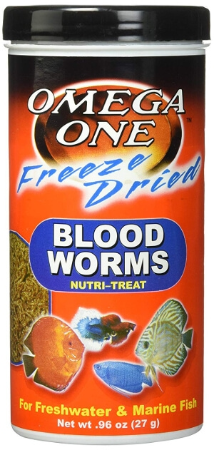 omega one freeze dried bloodworms