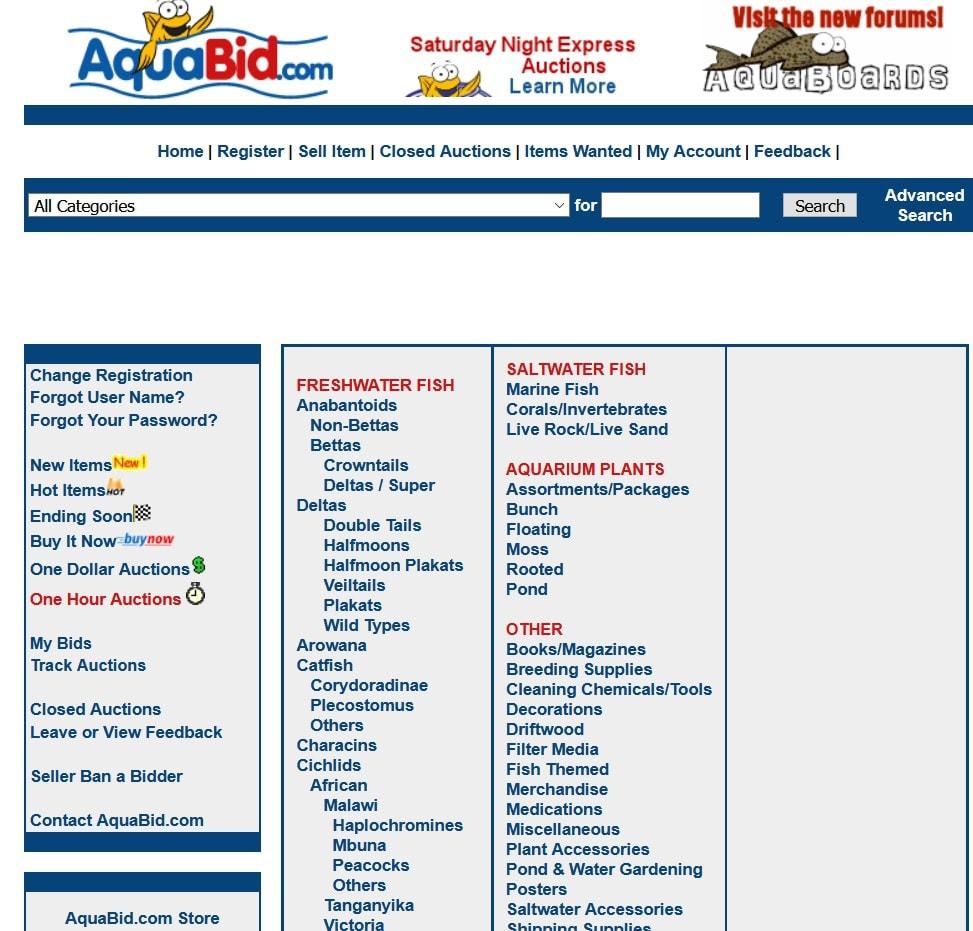 aquabid homepage