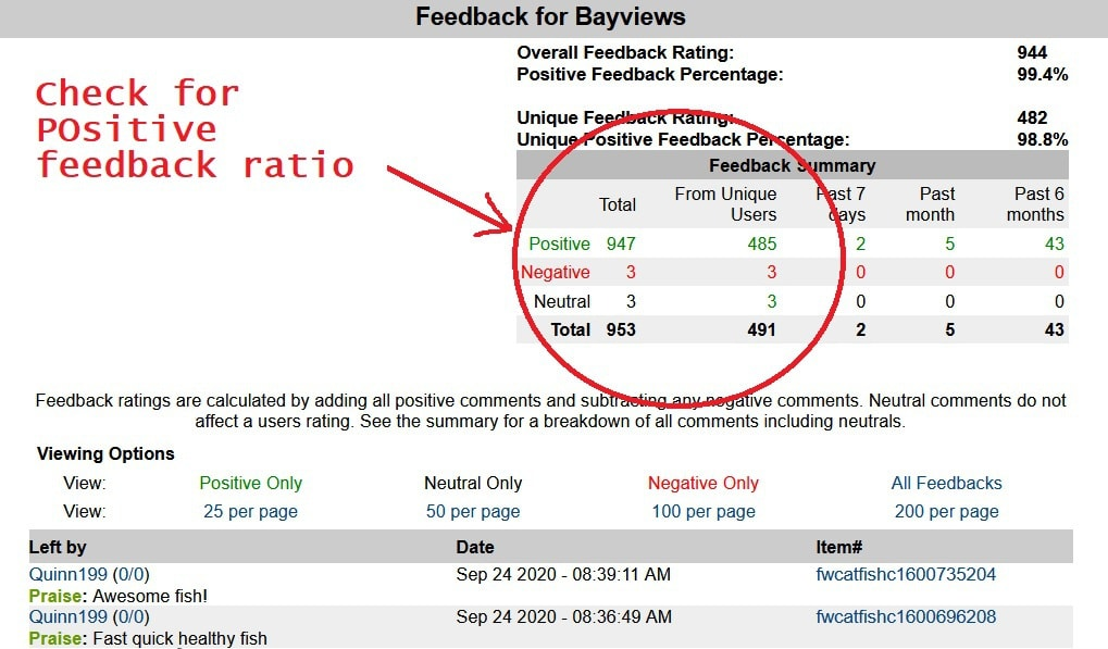 aquabid user feedback on vendors
