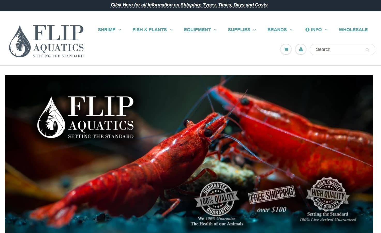 flipaquatics website homepage