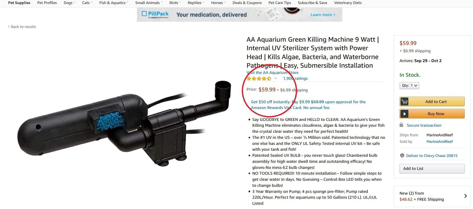 uv sterilizer at amazon price comparison