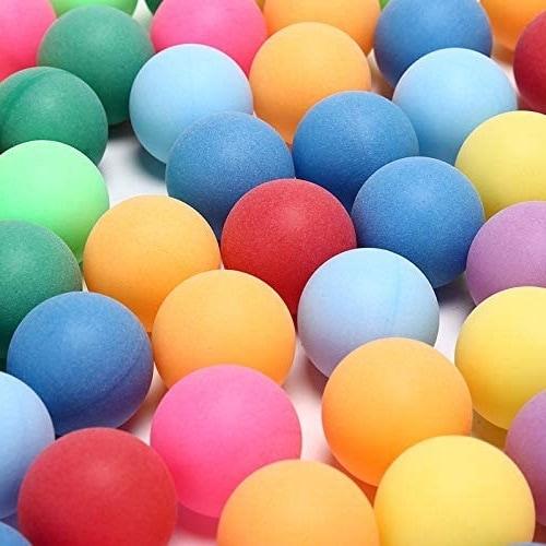 colorful ping pong balls