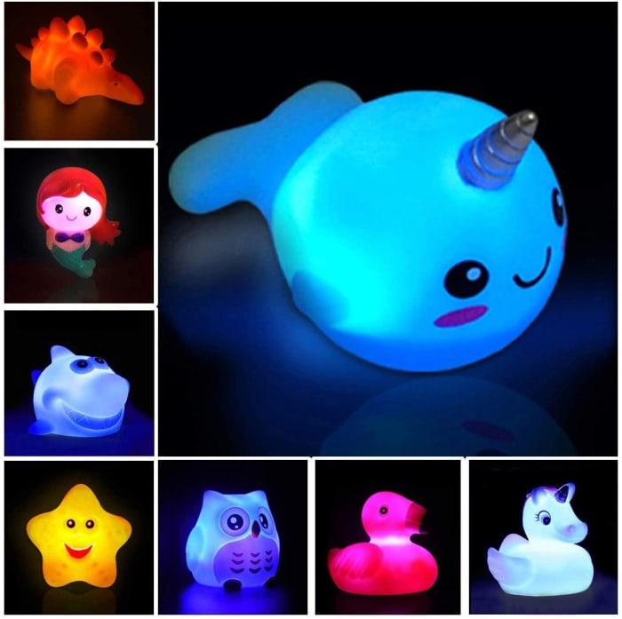 glowing bath toys