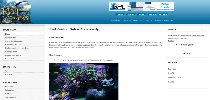 reef central homepage