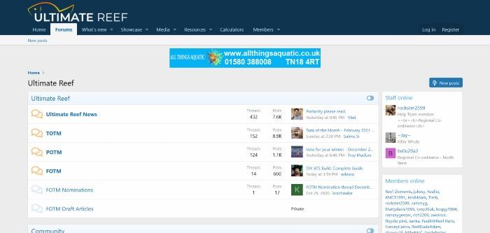 ultimatereef homepage